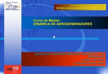 DINAMICA DE AEROGENERADORES - Ingeniería Mecánica ...