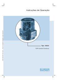Instruções de Operação - Bürkert Fluid Control Systems