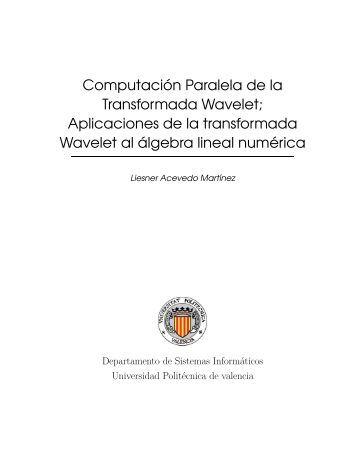 Aplicaciones de la transformada Wavelet al álgebra lineal
