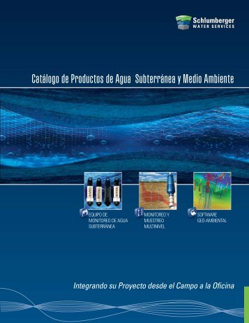 Catálogo de Productos de Agua Subterránea y Medio Ambiente