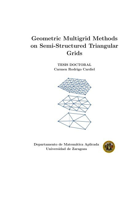 Geometric Multigrid Methods On Semi Structured Triangular Grids