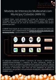 Modelo de Interacção Multicanal com Munícipe ... - SMART Vision