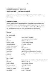 ESPECIFICACIONES TÉCNICAS Jeep® Cherokee y Cherokee ...