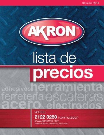 lista de precios - akron
