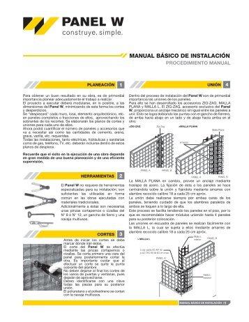 MANUAL BÁSICO DE INSTALACIÓN - panel w