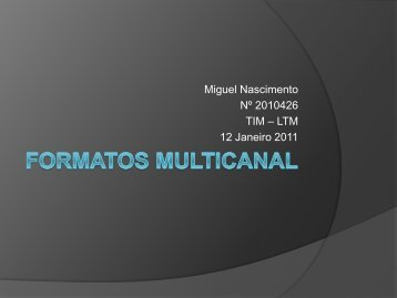 Formatos Multicanal - ISR