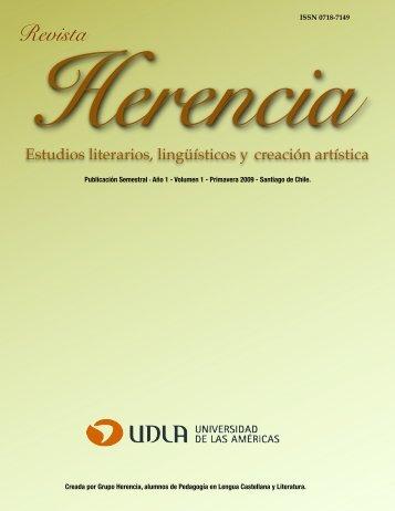 Revista Herencia Vol 1 Blanco y Negro