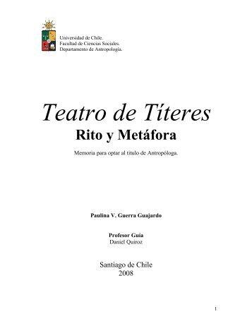 Teatro De Títeres Rito Y Metáfora