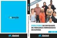 entidades de personas inmigradas en España - Obra Social