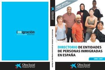 """entidades de personas inmigradas en España - Obra Social """"la Caixa"""""""