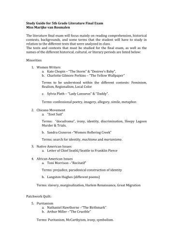103 american literature final exam Connections of law & literature law -l6500 -001 ferguson, robert l107 wjwh 103 wjwh global antitrust law law -l6138 -001 osti, cristoforo 105 grhl 103 wjwh international securities regulation law -l6424-001 fox, merritt.