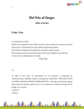 Trigo_Felipe-Del Frio Al Fuego, Ellas A Bordo