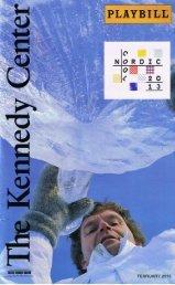 Playbill Sample - Robin Klinger Entertainment