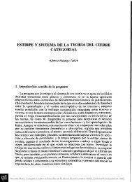 estirpe y sistema de la teoría del cierre categorial - Fundación ...