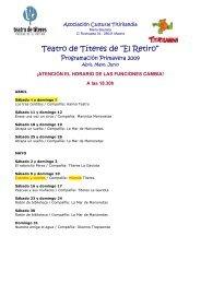 "Teatro de Títeres de ""El Retiro"" - Madrid"