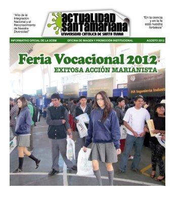 1 Exitosa acción marianista - Universidad Católica de Santa María