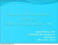 Latinos and Domestic Violence 2010