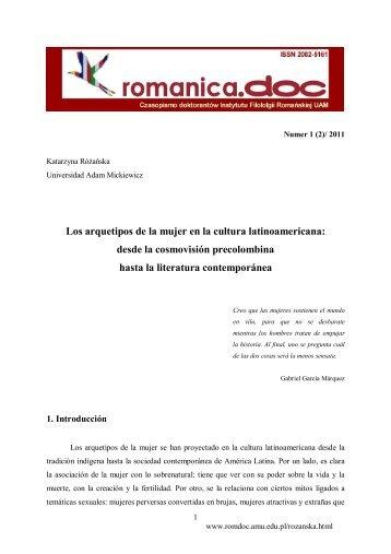 Los arquetipos de la mujer en la cultura latinoamericana: desde la ...