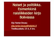 Eija Ranta-Owusun luento - Helsinki.fi