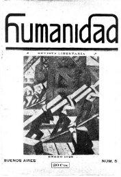 Humanidad nº 5. Enero de 1928.pdf - Federacion Libertaria Argentina