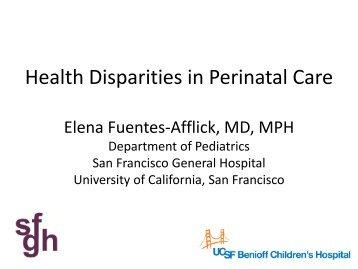 Health disparities among african american infants