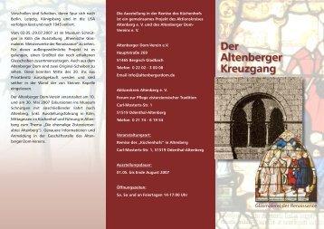 Der Altenberger Kreuzgang - Altenberger Dom