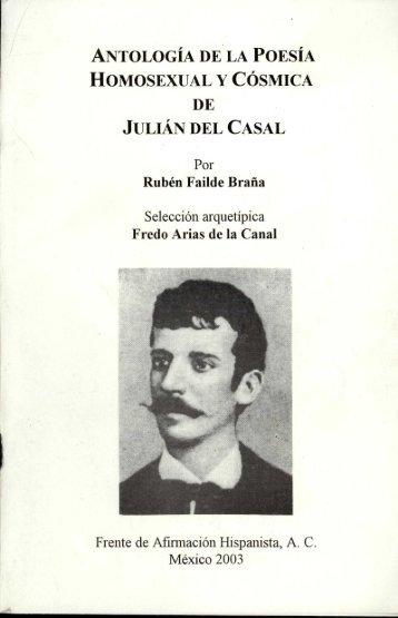 antología de la poesía homosexual y cósmica de julián del casal