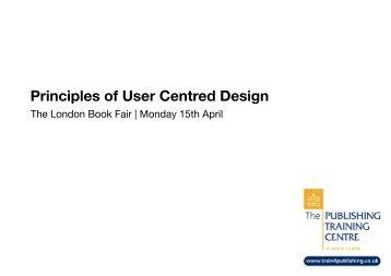 Principles of User Centred Design