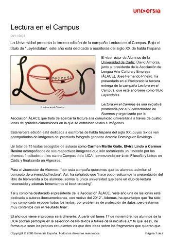 Lectura en el Campus - Noticias - Universia