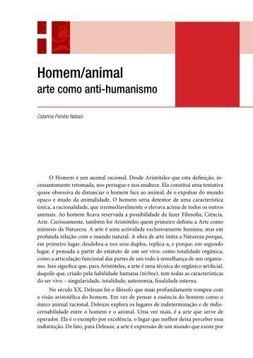 Homem/animal - Centro de Filosofia das Ciências da Universidade ...