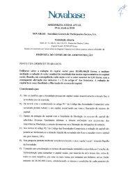 Proposta do Conselho de Administração - Novabase