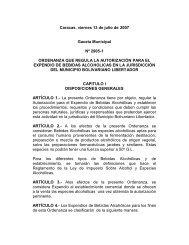 Ordenanza para Expendio de Bebidas Alcohólicas - Alcaldía de ...