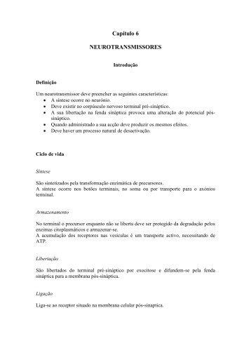 Capítulo 6 NEUROTRANSMISSORES - WebBiblioteca