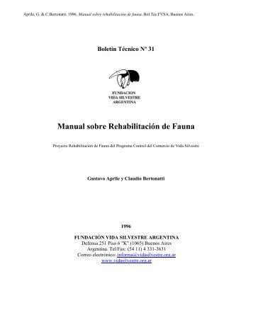 Manual de Rehabilitación de Fauna - Cuenta Regresiva