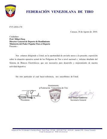 Informe Polígonos... - Federación Venezolana de Tiro