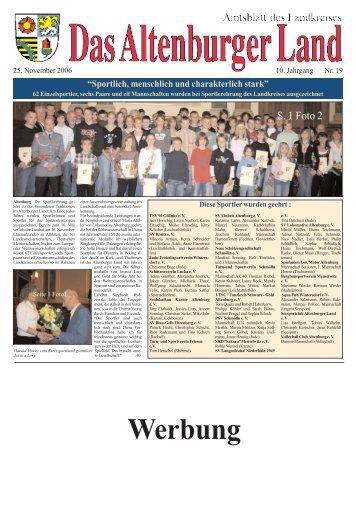 Werbung - Altenburger Land