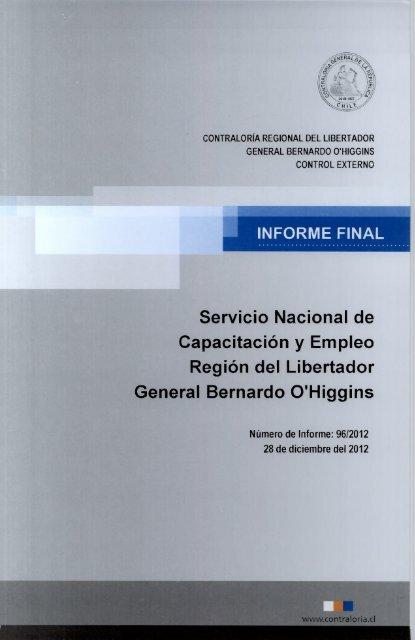 Servicio Nacional de Capacitación y Empleo Región del Libertador ...