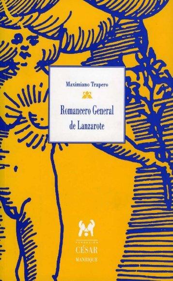 Romancero General de Lanzarote - Fundación César Manrique