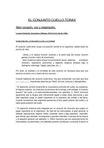 EL CONJUNTO CUELLO-TORAX - Sociedad Andaluza de Análisis ...