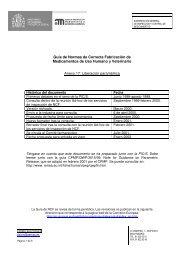 Liberación paramétrica - Agencia Española de Medicamentos y ...