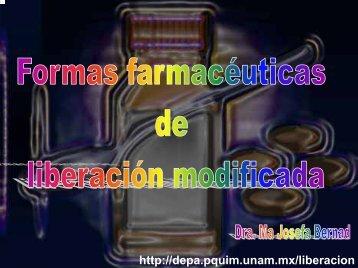 formas farmacéuticas de liberación modificada - UNAM