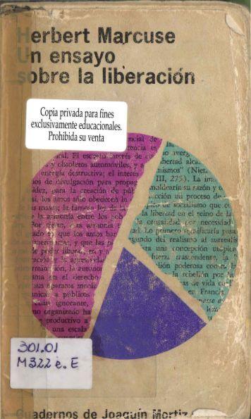 Herbert Marcuse, Un ensayo sobre la liberación ... - Marcuse.org