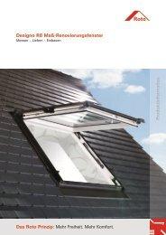 Designo R8 Maß-Renovierungsfenster Das Roto Prinzip - Roto Dach