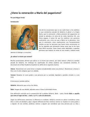 ¿Viene la veneración a María del paganismo? - Tu Fe Católica