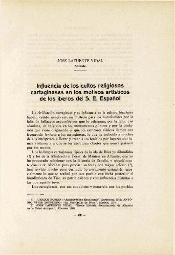 Influencia de lo, cultos religiosos : , cartagineses ... - Museo Prehistoria