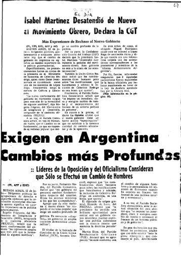 Exigen en Argentina Cambios más Profundos