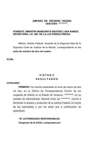 AMPARO EN REVISIÓN 162/2004