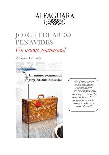Dossier de prensa Un asunto sentimental - Alfaguara