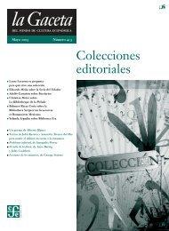 La Gaceta del FCE, mayo de 2005 - Fondo de Cultura Económica