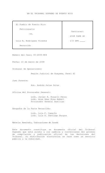 2008 TSPR 46 - Rama Judicial de Puerto Rico